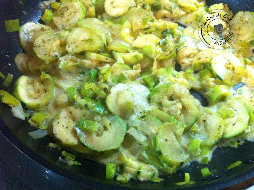 Courgettes Poireaux saveurs romarin olives