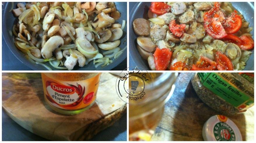 Poêlée de boudin et champignons aux olives3