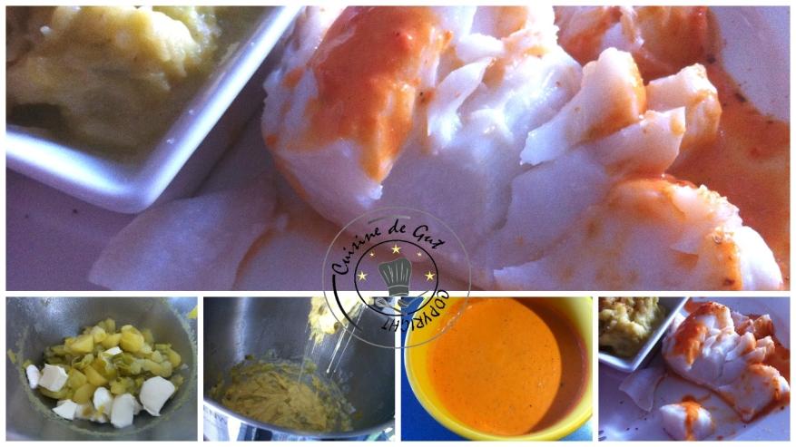 Cabillaud aux poireaux sauce poivron 2