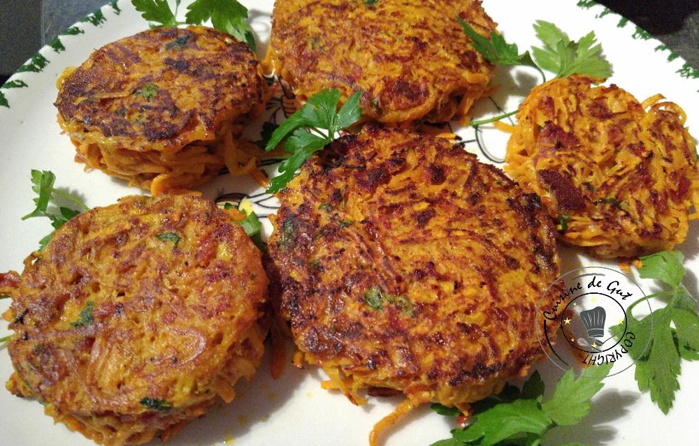 Galettes de patates douces et chorizo2