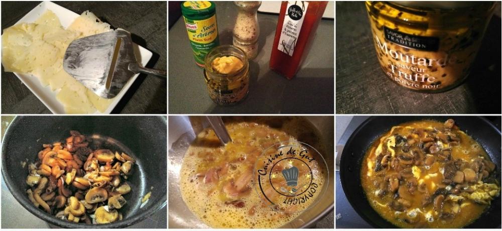 Omelette fomage et champignons saveurs truffe2