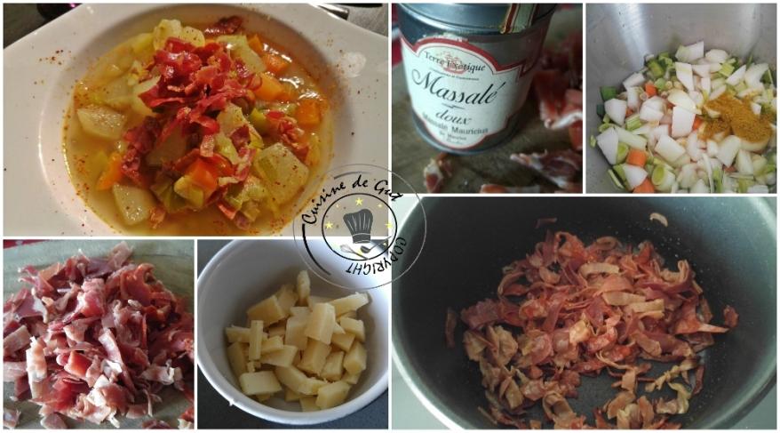 Soupe rustique massalé et citronnelle2