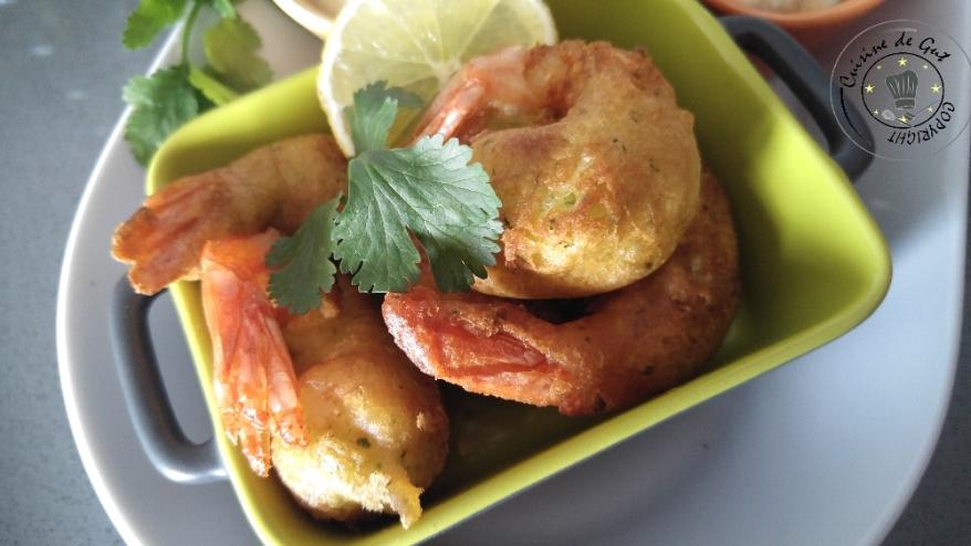 Beignets de crevettes ail et piment et sauce curry1