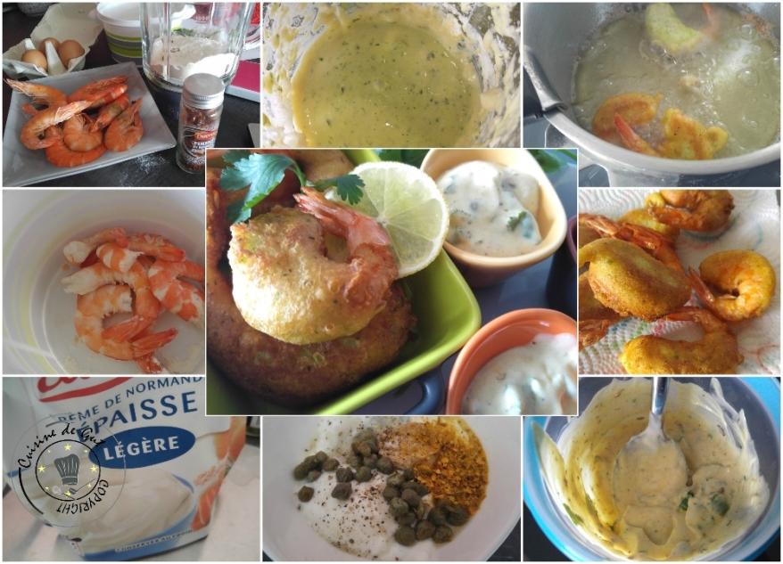 Beignets de crevettes ail et piment sauce curry et câpres3