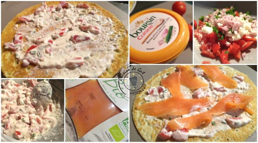 Roulé de crêpes au fromage et saumon3