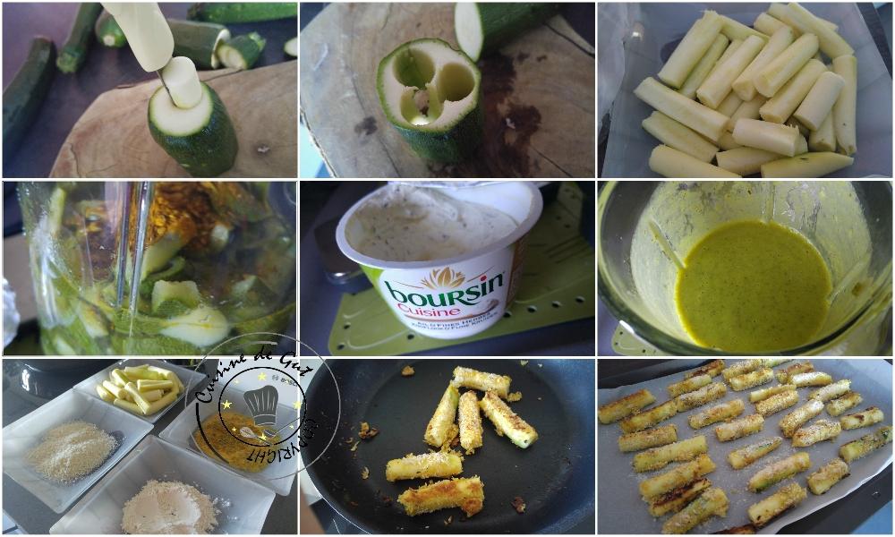 Bâtons de courgettes et saumon, sauce ail et fines herbes au curry3