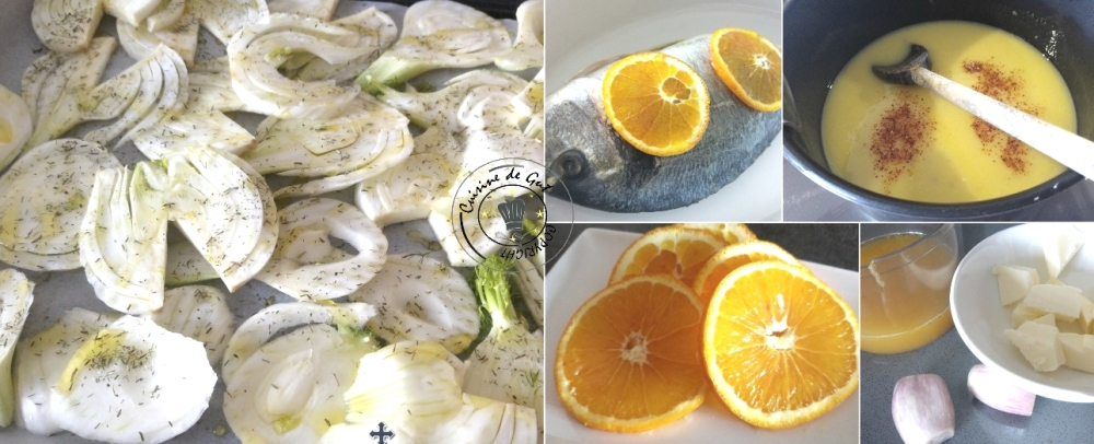Dorade sauce orange et fenouil au four1