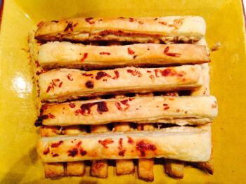 Feuilletés artichauts avec pâte escargot les gourmands du lundi