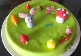 Gâteau en pâte à sucre 3 parfums 1