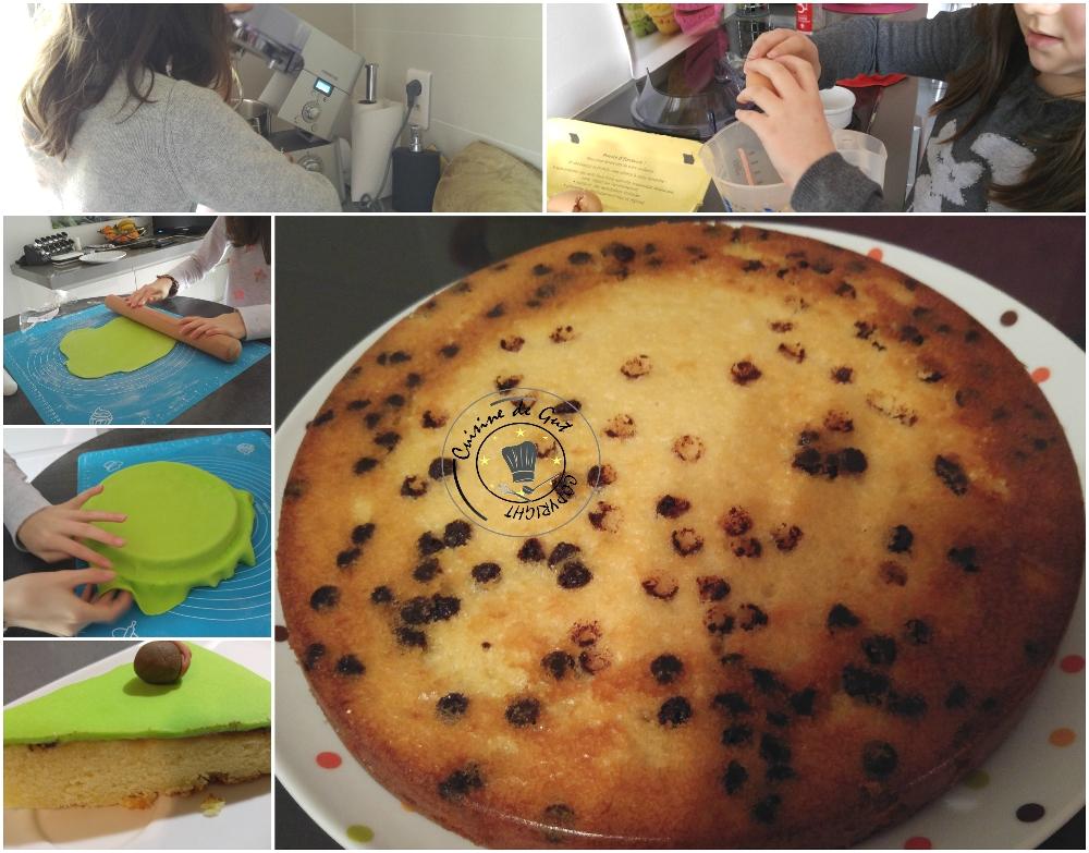 Gâteau en pâte à sucre 3 parfums 2