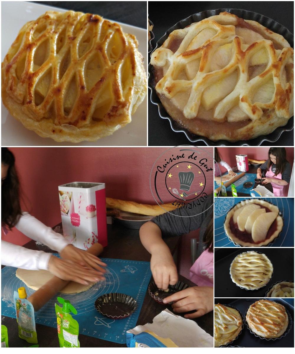 Tartelettes aux pommes grillage2