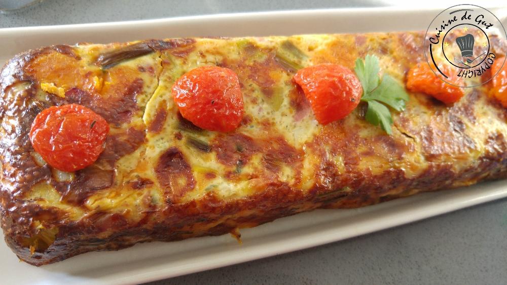Clafoutis patates douces poireaux et bacon2