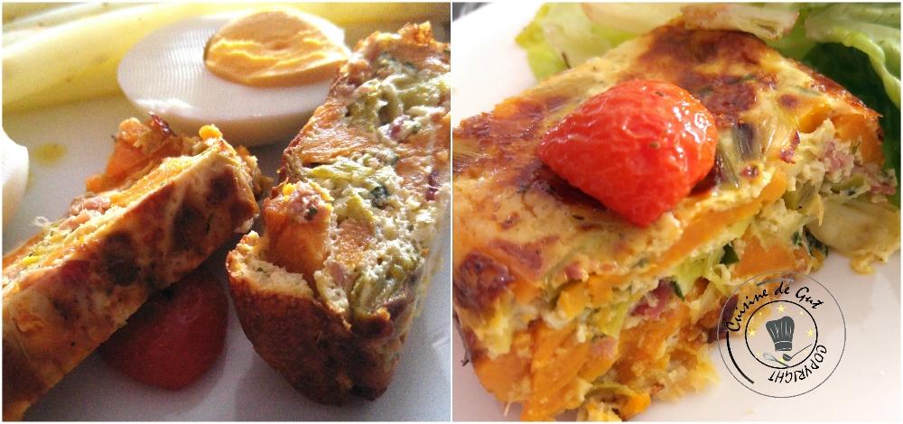 Clafoutis patates douces poireaux et bacon3