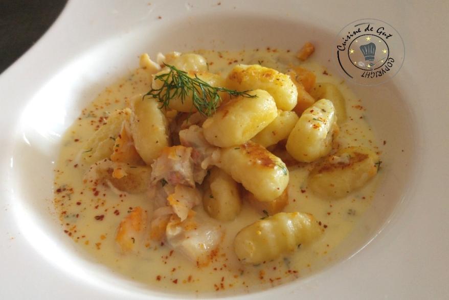 Gnocchis au haddock et crème d'aneth 2