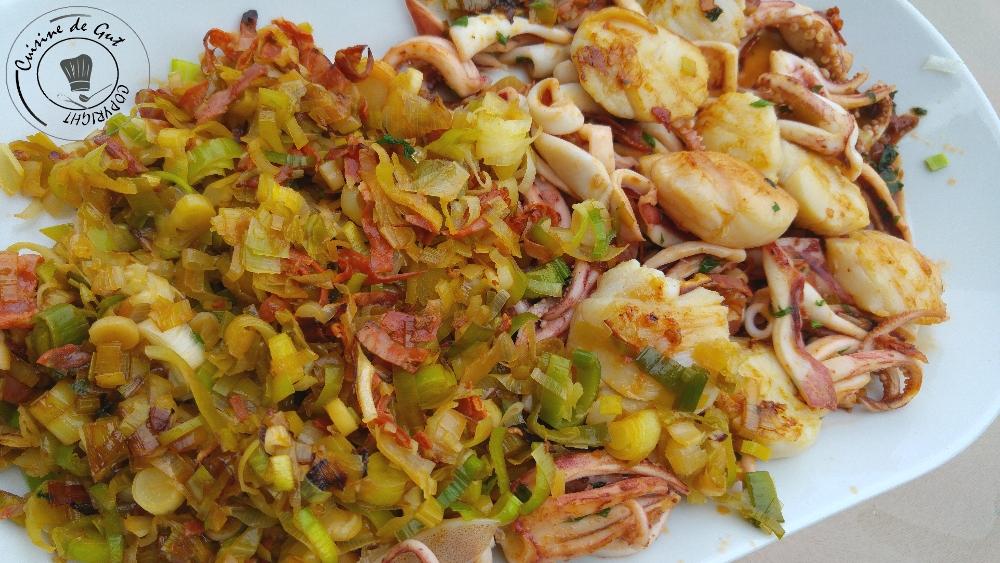 30 Plancha de fruits de mer aux poireaux et chorizo2