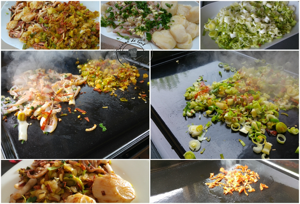 30 Plancha de fruits de mer aux poireaux et chorizo3