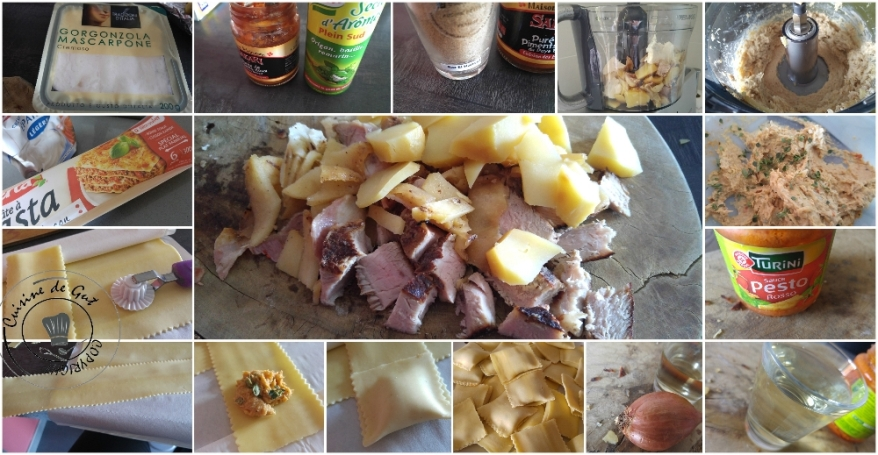 Raviolis farcis de restes sauce pesto rosso3