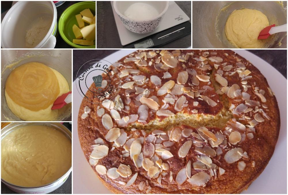 Gâteau amandes compote de pommes
