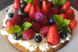 Gâteau fruité amandes pistaches