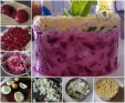 Oeuf mimosa revisité et betterave au fromage1
