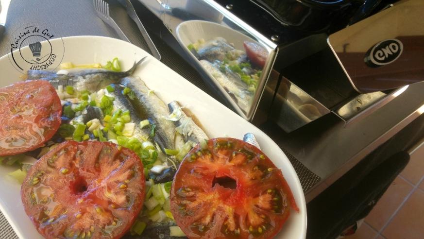 Plancha de sardines froides sauce Xipister