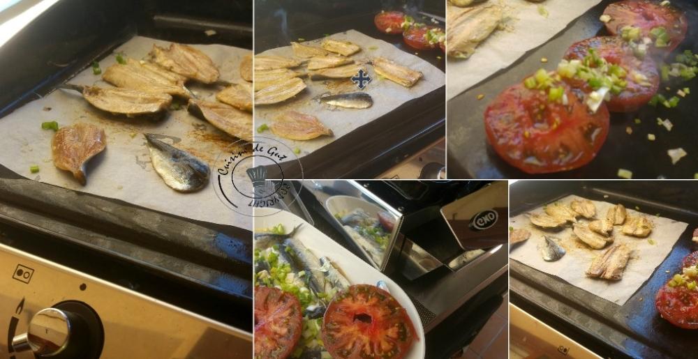 Plancha de sardines froides sauce Xipister6