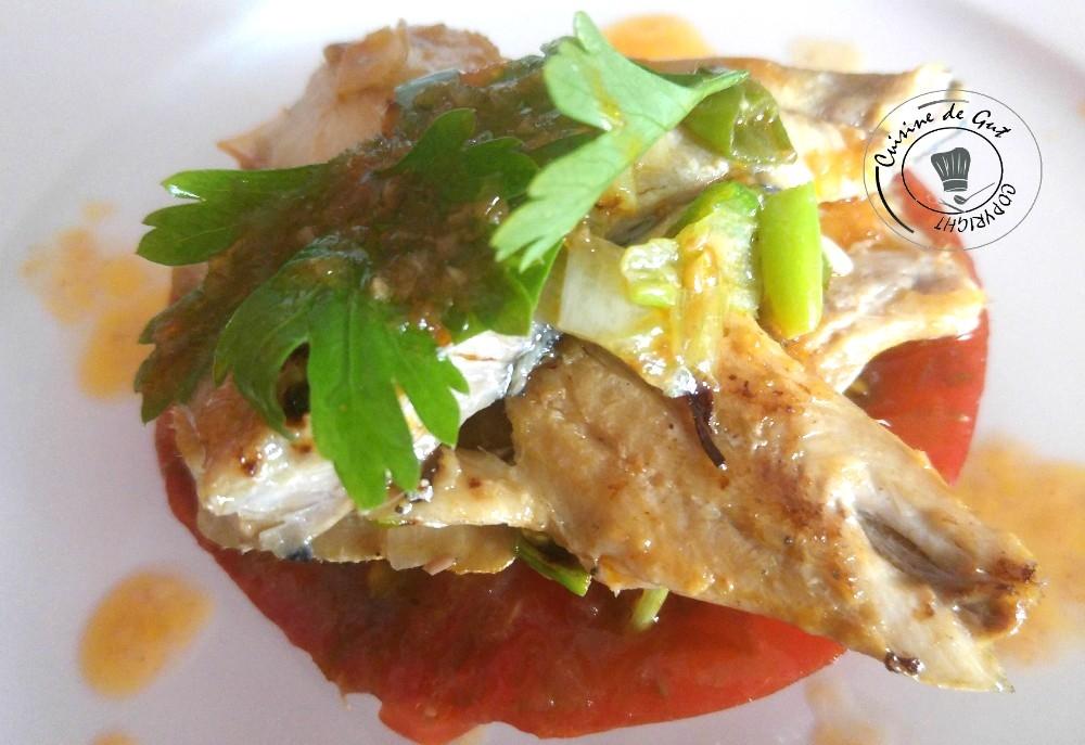Plancha de sardines froides sauceXipister