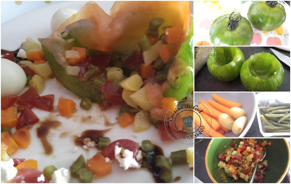 Green d'antan et truite fumée et sa brunoise de légumes2