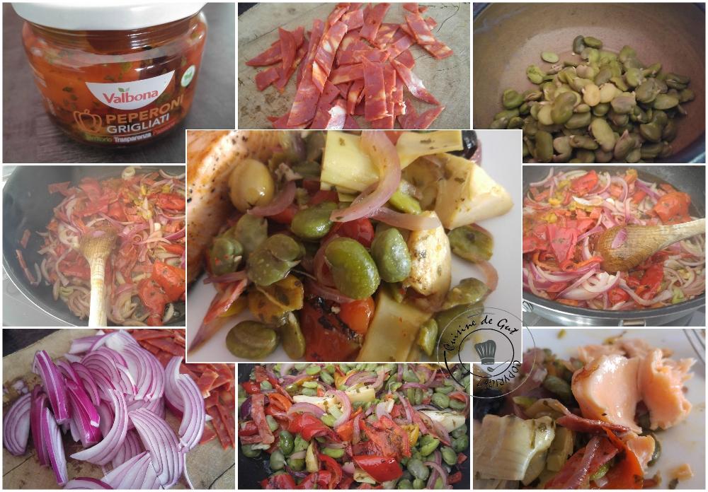 Poêlée de fèves et artichauts au chorizo3