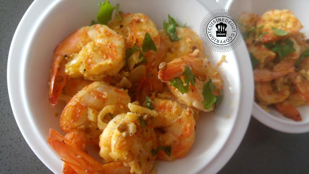 Crevettes grillées à l'orange et épices