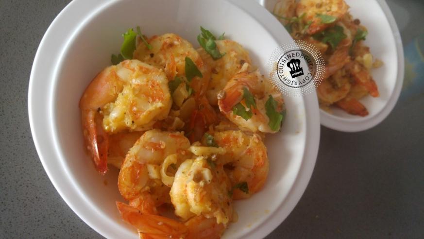 Crevettes grillées à l'orange et épices2