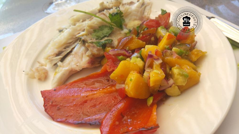 Dorade la plancha eno au sumac et sa salsa de mangue for Cuisine 0 la plancha