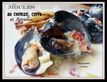 Moules poireaux lomo au chorizo pour MIE