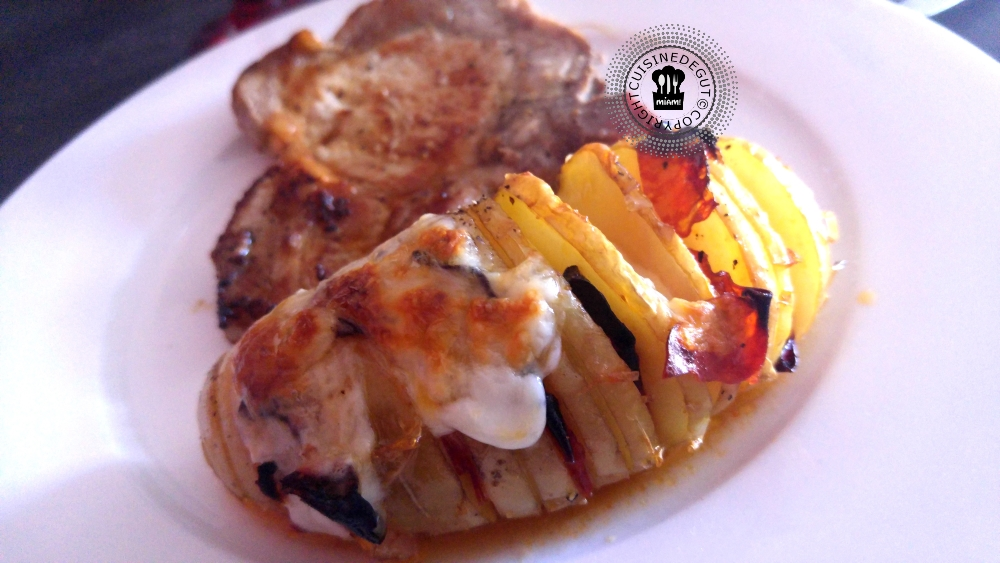 Pommes de terre suédoises chorizo et mozzarella