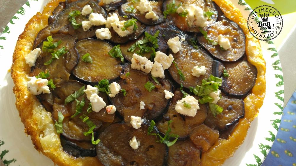 Tatin d'aubergine basilic et feta