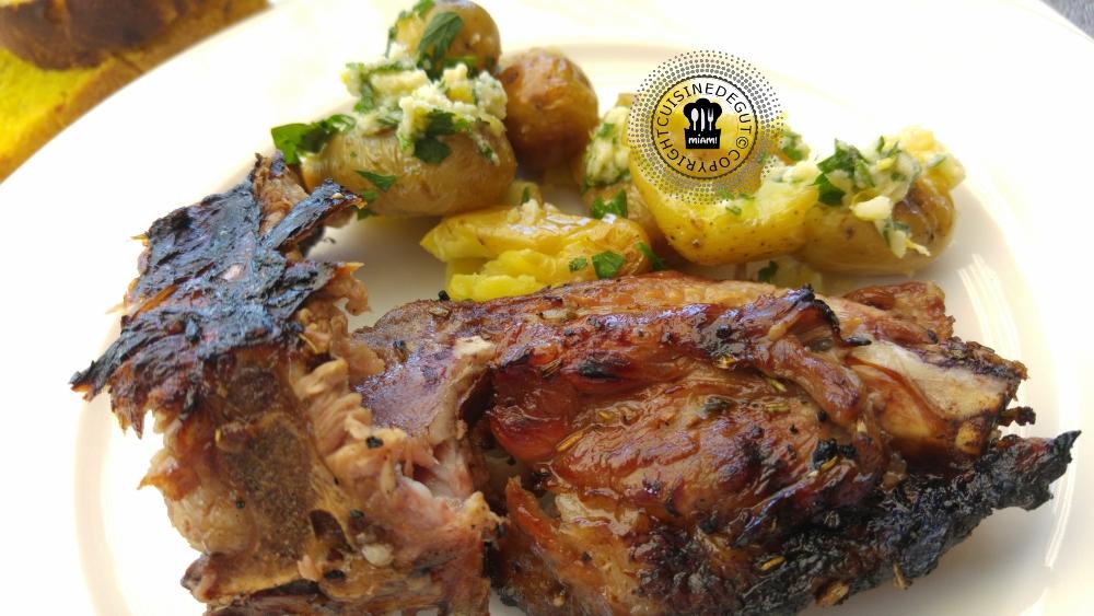 Travers de porc au cola et PDT a la gremolata