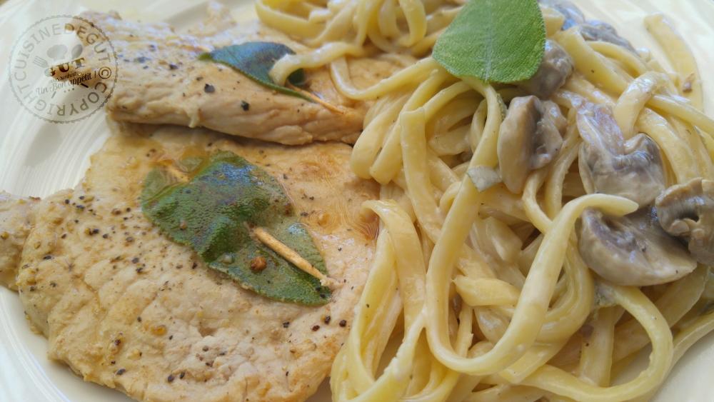 esacaloppe-de-veau-a-la-sauge-et-linguines-aux-champignons-de-paris