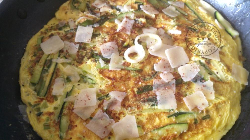 Omelettes aux courgettes, parmesan et sumac1
