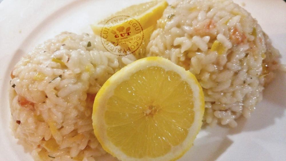risotto au citron crevettes poireaux et parmesan cuisine de gut. Black Bedroom Furniture Sets. Home Design Ideas