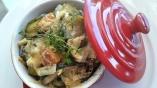Mini cocotte de courgettes et Haddock épices tandoori
