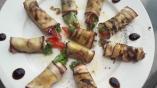 Roulés d'aubergines au fromage olive et romarin3