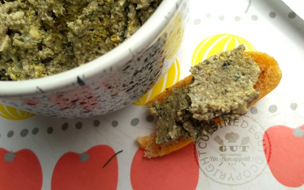 Tartinade de champignons aux graines de courges épicée1