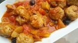 Boulettes de veau tomates citron confit et câpres