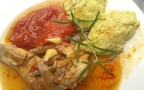 Lapin au romarin polenta au brocolis