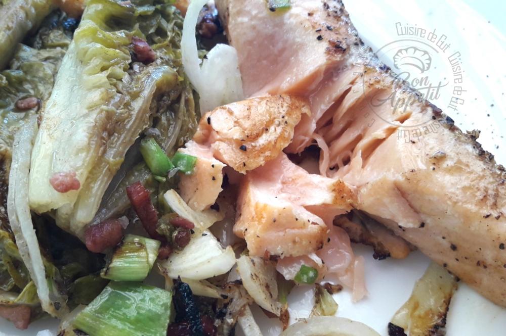 Saumon et sucrines la plancha eno cuisine de gut - Cuisine a la plancha ...
