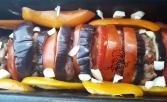 Tian de légumes et galettes dd'agneau parfumées1