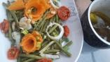 Salade d'haricots verts et fleurs de carotte1