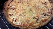 Tarte aux chou blanc, poireaux, poivrons jaunes et pois chiches1