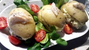 Pommes de terre farcies au haddock et oseille fraiche