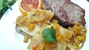 Céleri entier à l'orange cuit en tajine
